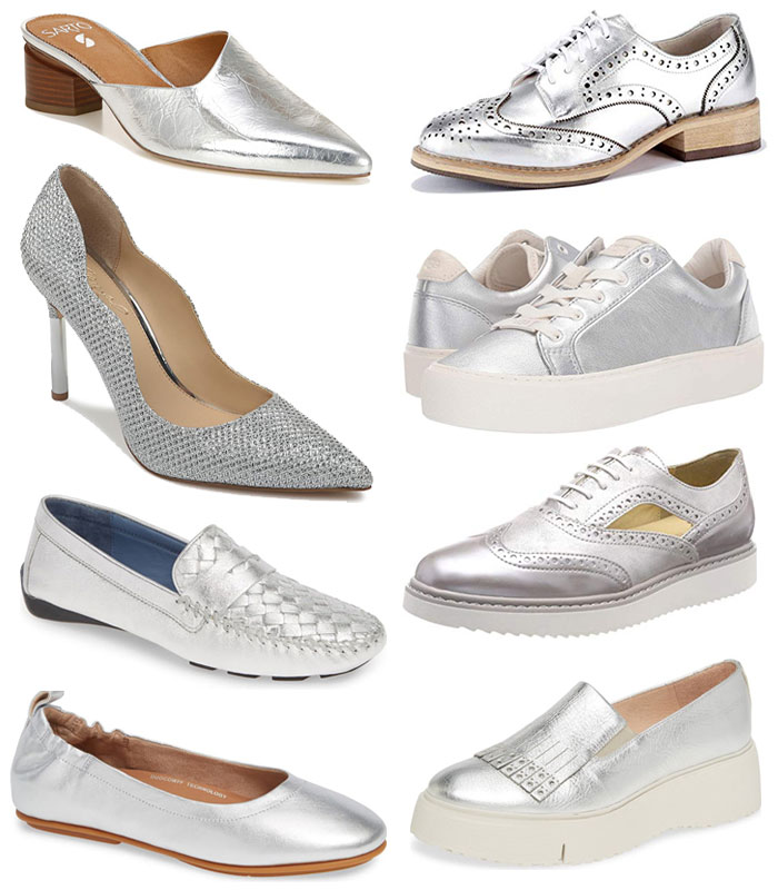 The best silver shoes for a hipper and more youthful look!