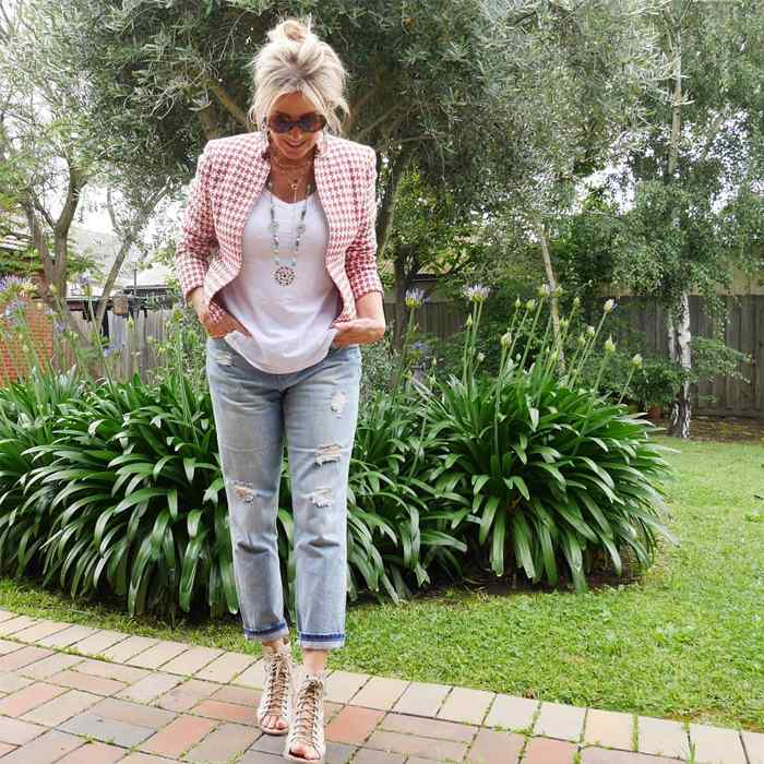 Wearing jeans and a blazer | 40plusstyle.com