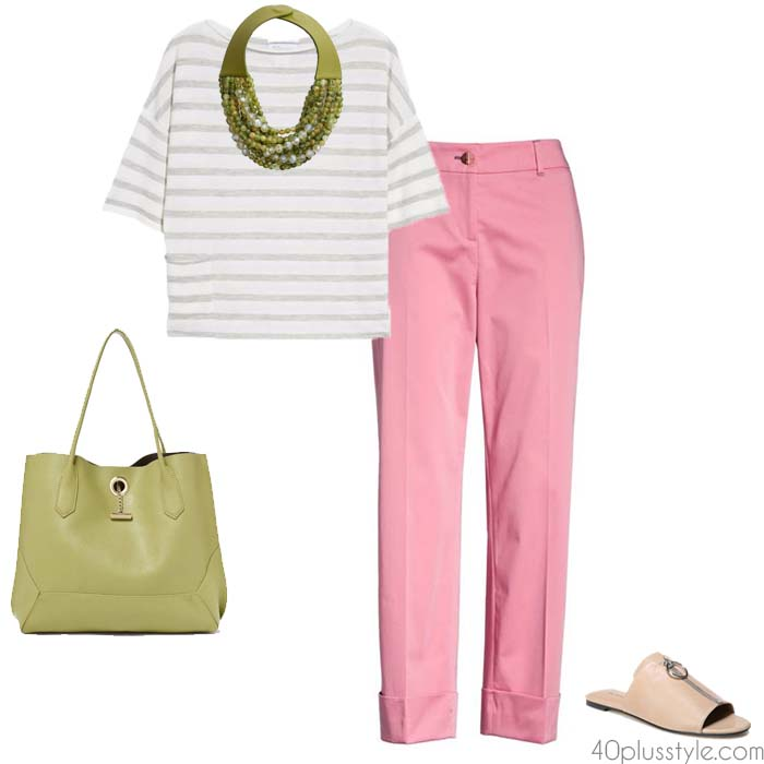Pink pants for women over 40 | 40plusstyle.com