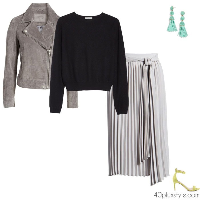 outfits on how to wear gray | 40plusstyle.com