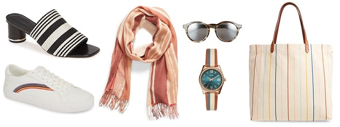 Striped accessories | 40plusstyle.com