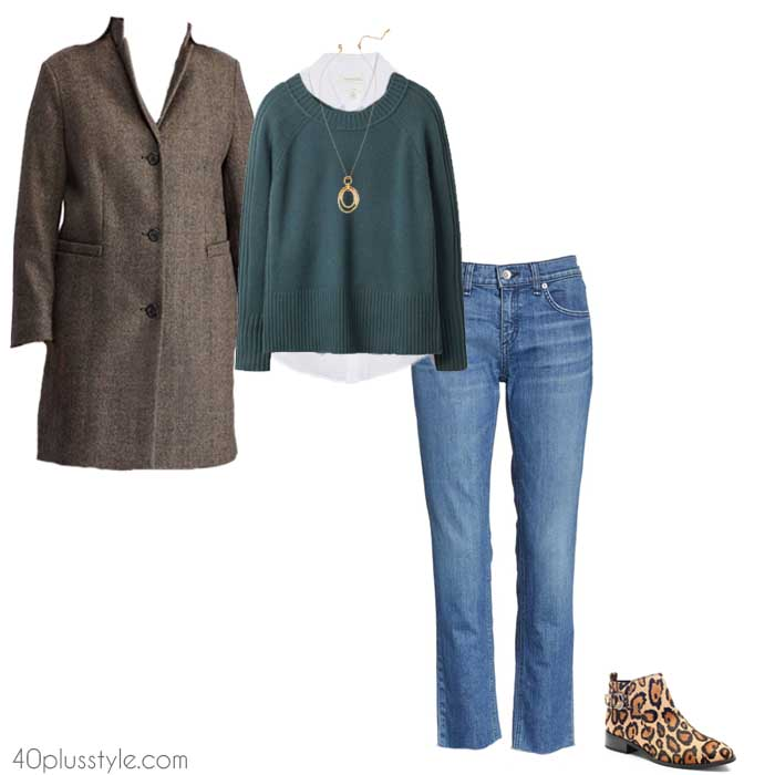 Animal print chelsea boot outfit | 40plusstyle.com