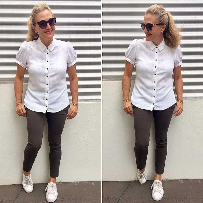 Wearing a classic white shirt | 40plusstyle.com