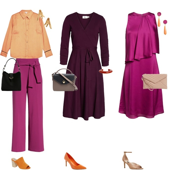 Wearing purple with orange | fashion over 40 | style | fashion | 40plusstyle.com