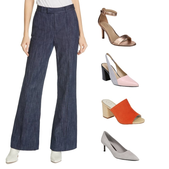shoes to wear with wide legged pants | 40plusstyle.com