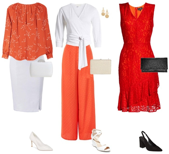 How to wear orange collage | 40plusstyle.com