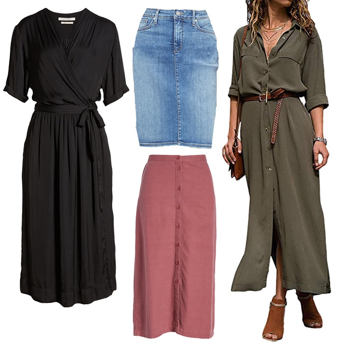 Casual Dresses & Skirts for the natural style personality | 40plusstyle.com
