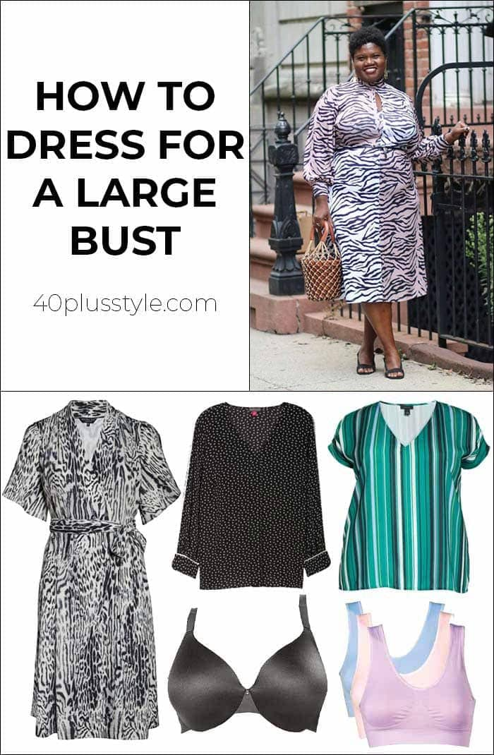 How to dress for a large bust | 40plusstyle.com
