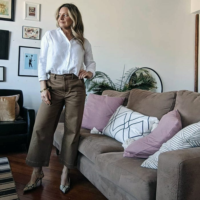 wearing heels with cropped pants | 40plusstyle.com