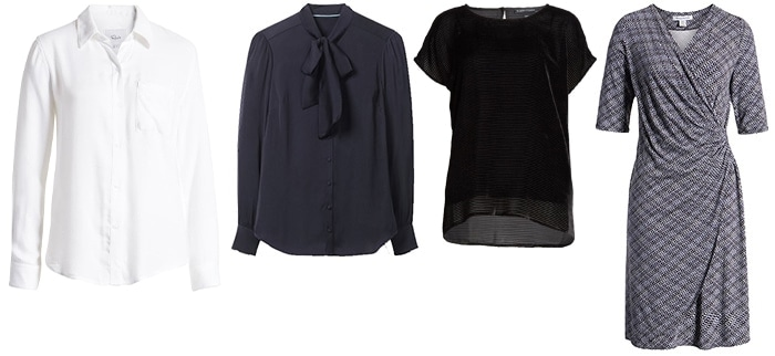 Blouses/dress to wear with jeans to work | 40plusstyle.com