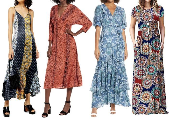 boho summer dresses | 40plusstyle.com