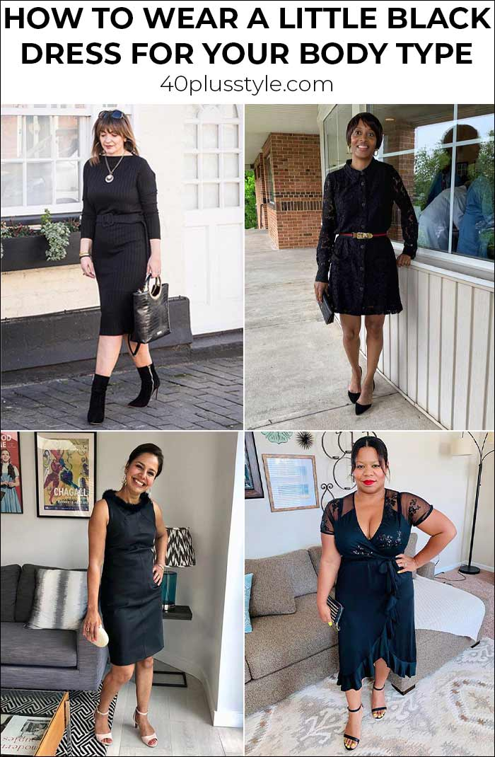 How to find the perfect little black dress for your body shape | 40plusstyle.com