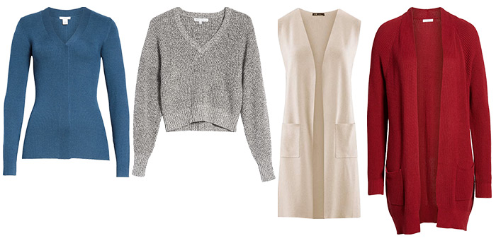 sweaters and cardigans for the petites | 40plusstyle.com