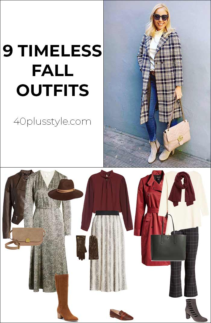 9 totally timeless fall outfits | 40plusstyle.com