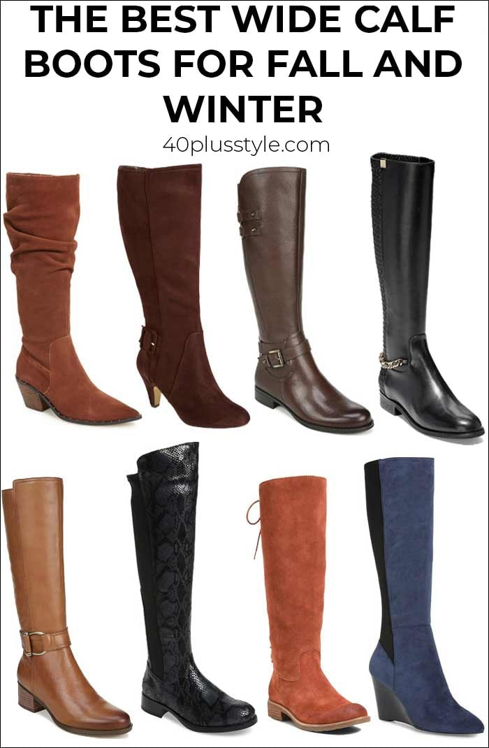 The best wide calf boots this winter and fall | 40plusstyle.com