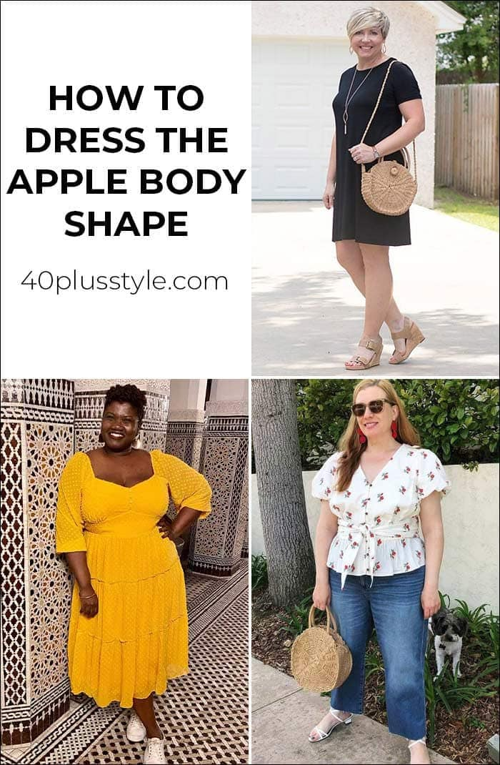 How to dress the apply body shape | 40plusstyle.com