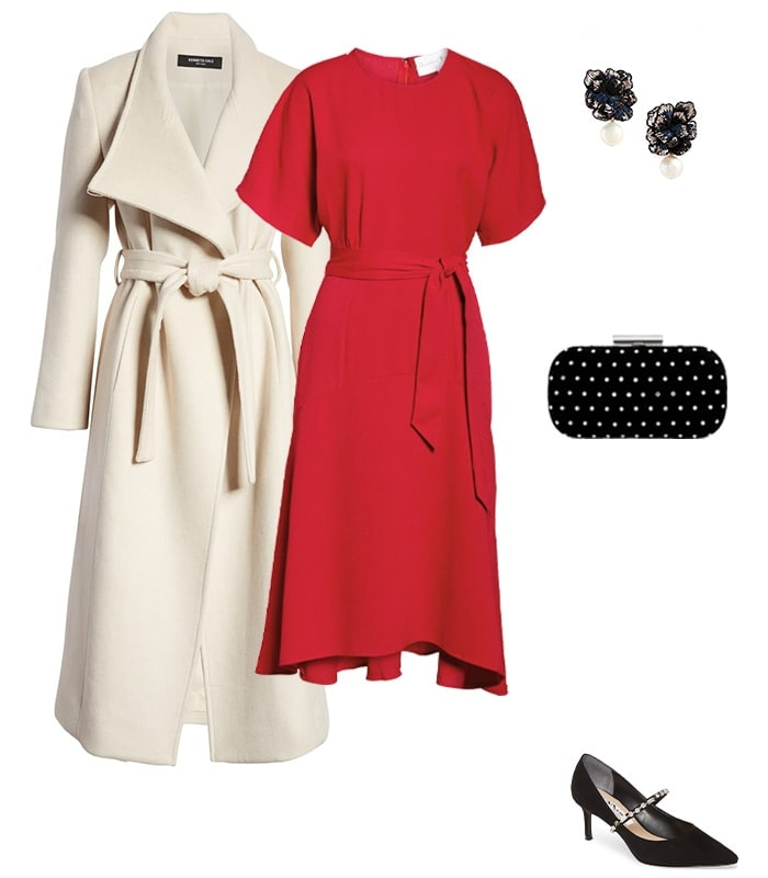 Christmas party outfit 1: Red or pink | 40plusstyle.com