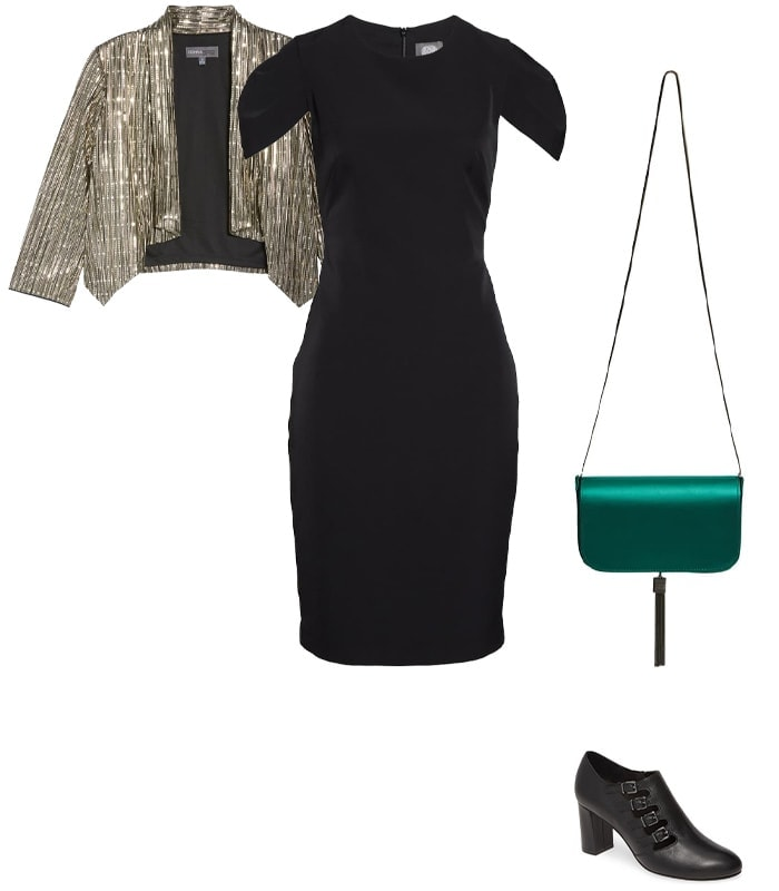 Christmas party outfit 4: Metallics | 40plusstyle.com