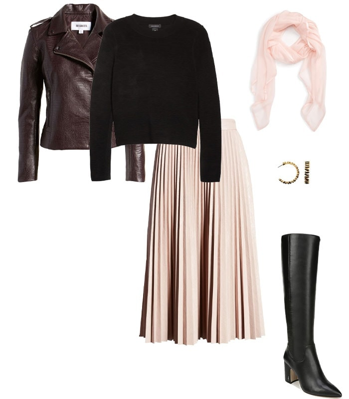 Christmas party outfit 6: Pastels, especially blush | 40plusstyle.com
