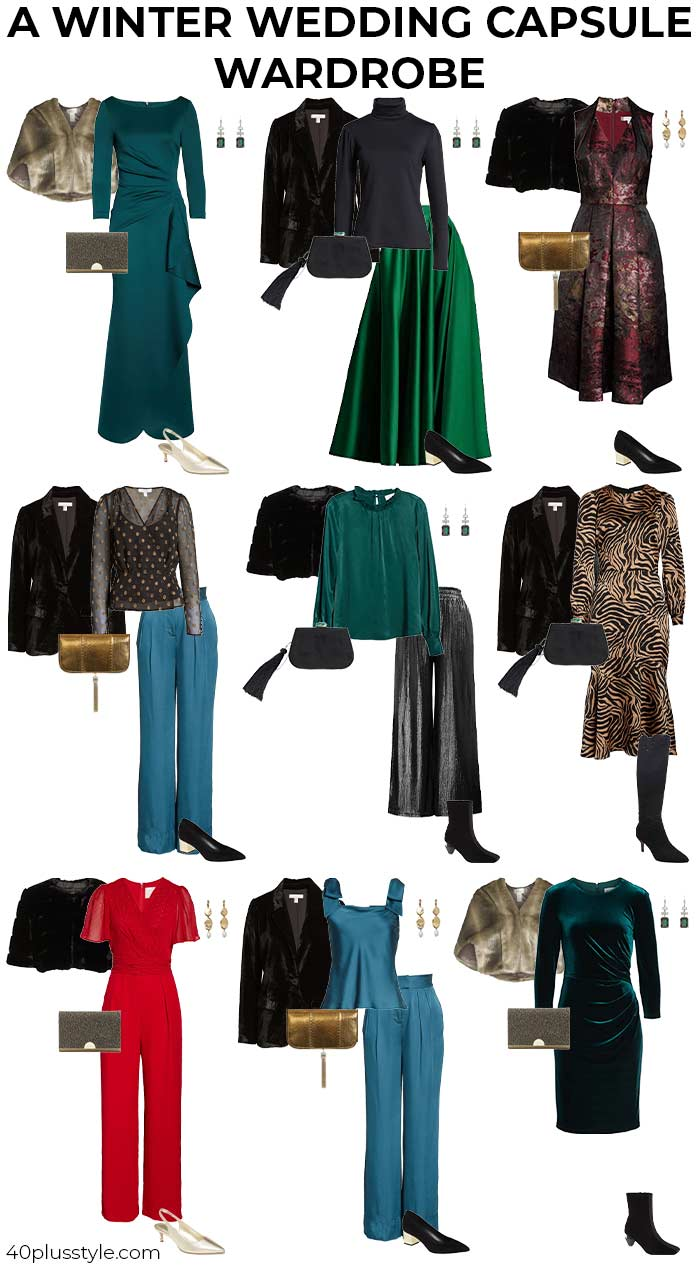 A winter wedding capsule wardrobe | 40plusstyle.com