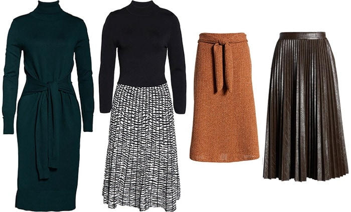 cold weather dresses and skirts | 40plusstyle.com