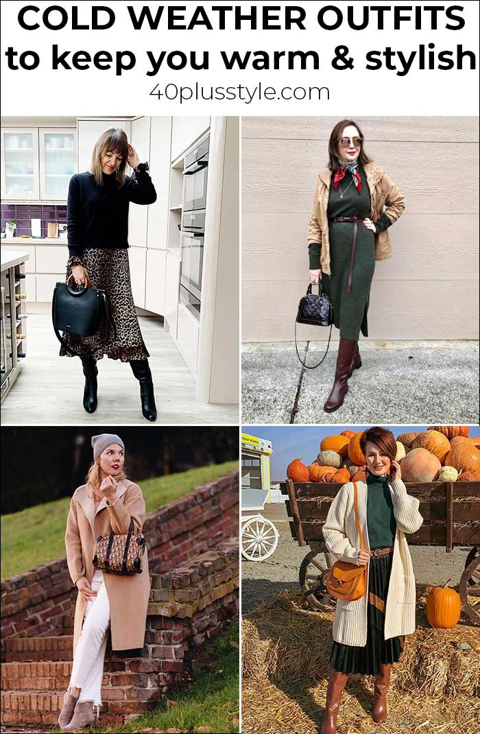 Cold weather outfits to keep you warm AND stylish | 40plusstyle.com