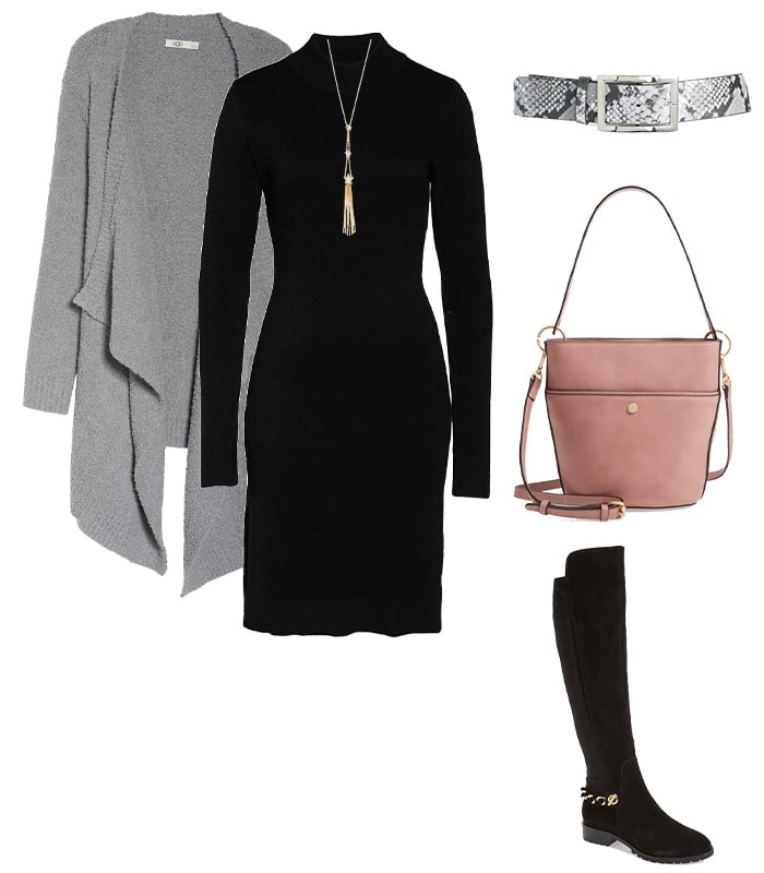 wear a belt over your cardigan | 40plusstyle.com