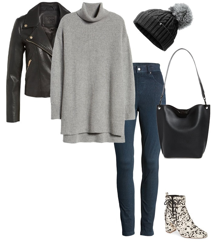 how to wear a sweater: With your leggings | 40plusstyle.com