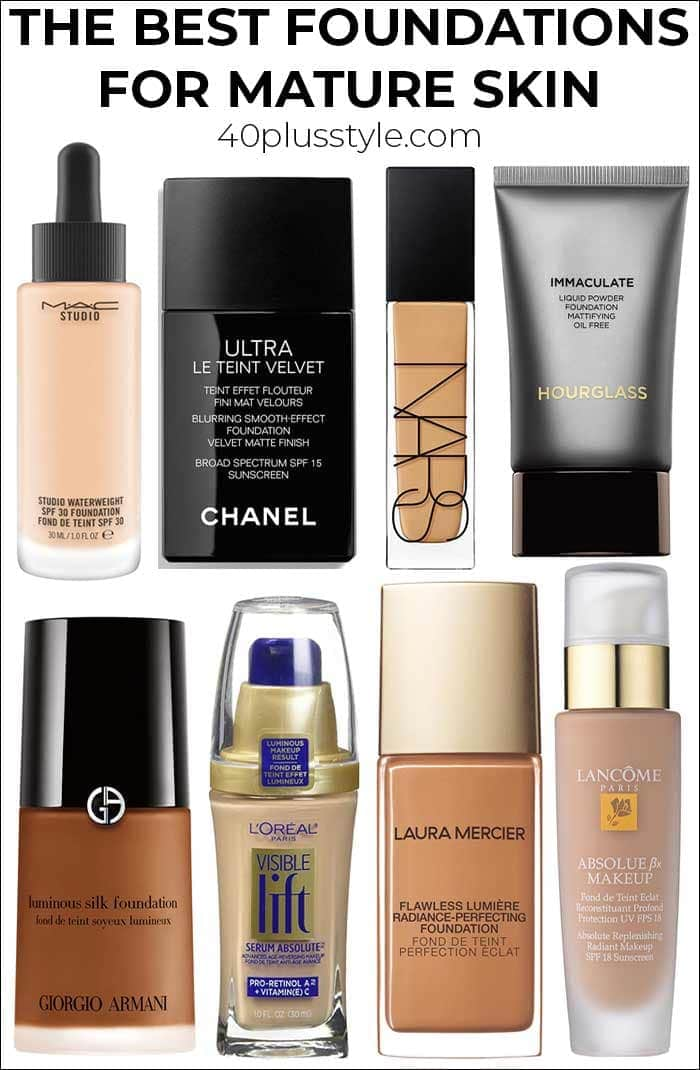 The best foundation for mature skin | 40plusstyle.com