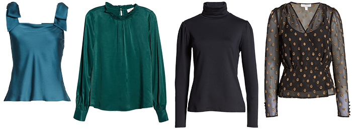 Tops to wear to a winter wedding | 40plusstyle.com