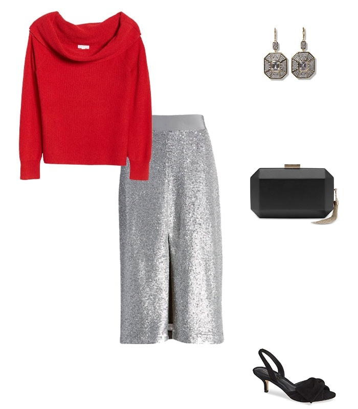 Christmas party outfit 7: Sequins | 40plusstyle.com