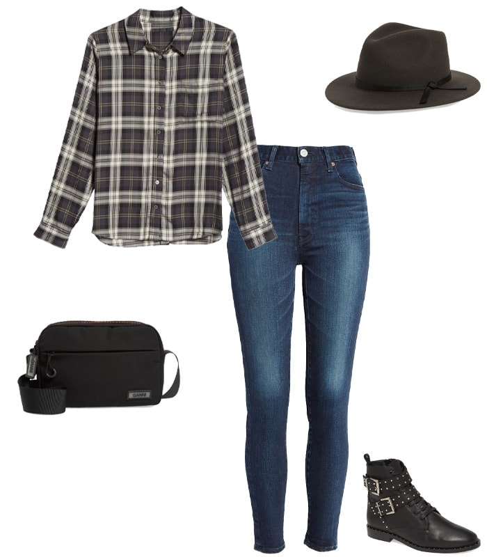 Concert outfits idea - checked shirt | 40plusstyle.com