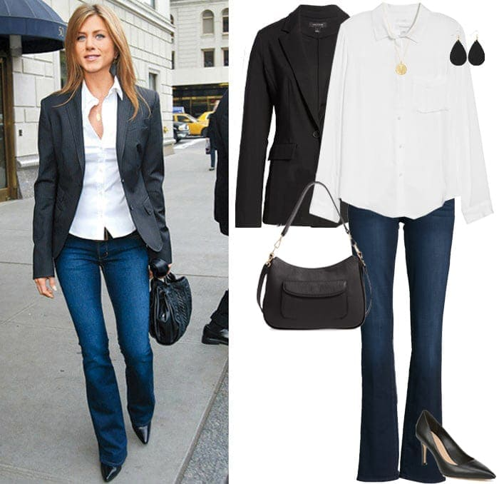 Jennifer Aniston style outfit for less | 40plusstyle.com