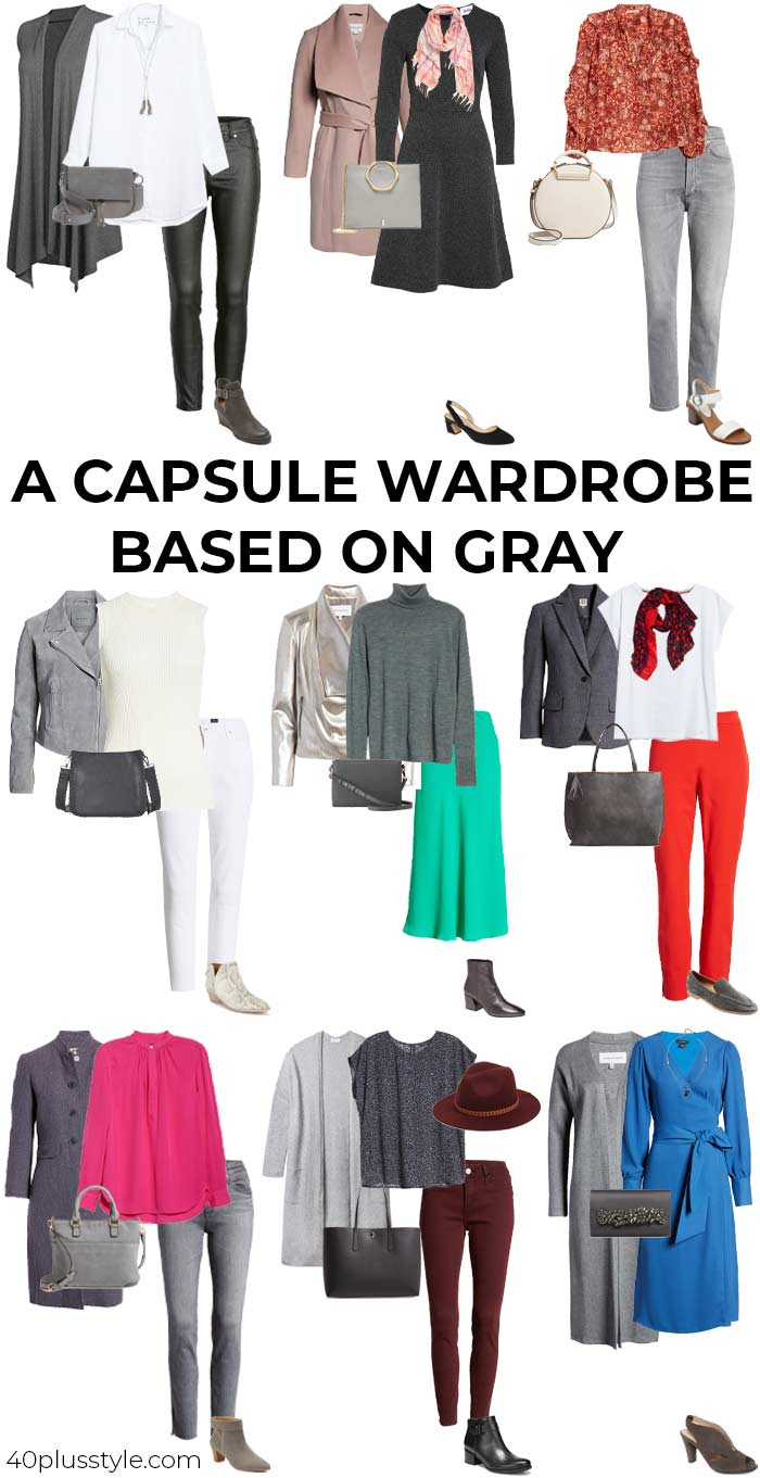 A capsule wardrobe on how to wear gray | 40plusstyle.com