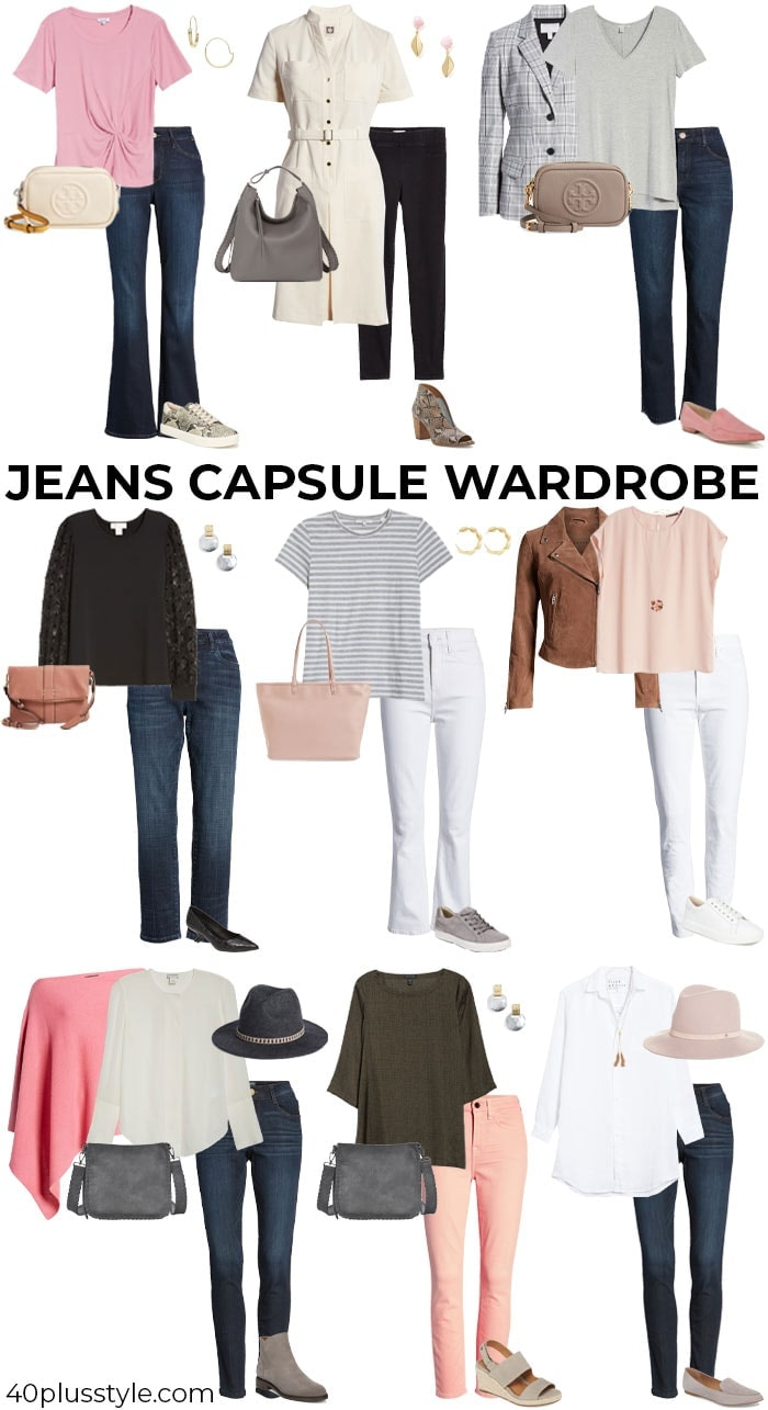 A jeans capsule wardrobe | 40plusstyle.com