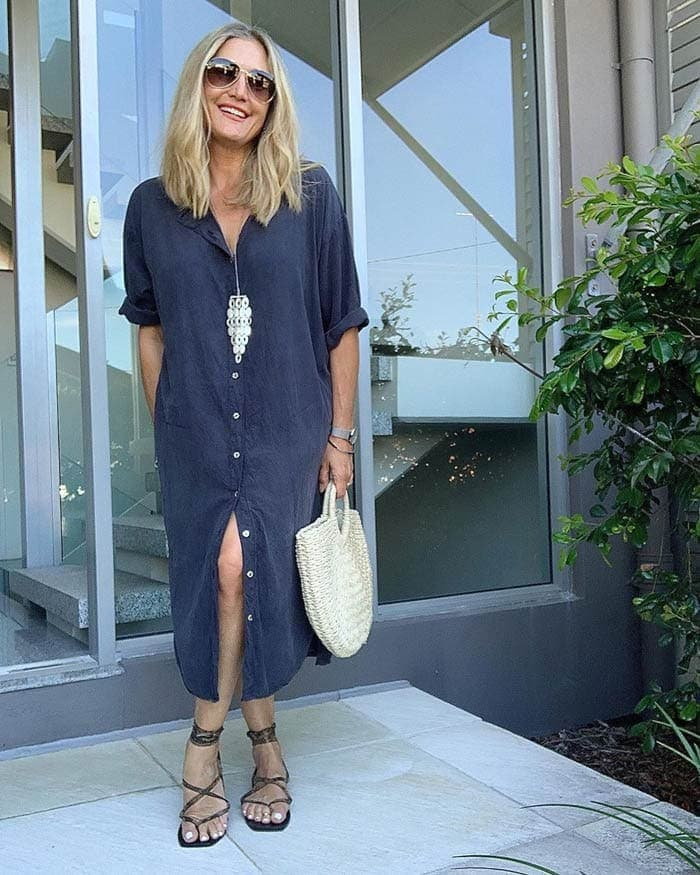 how to wear a classic shirtdress | 40plusstyle.com