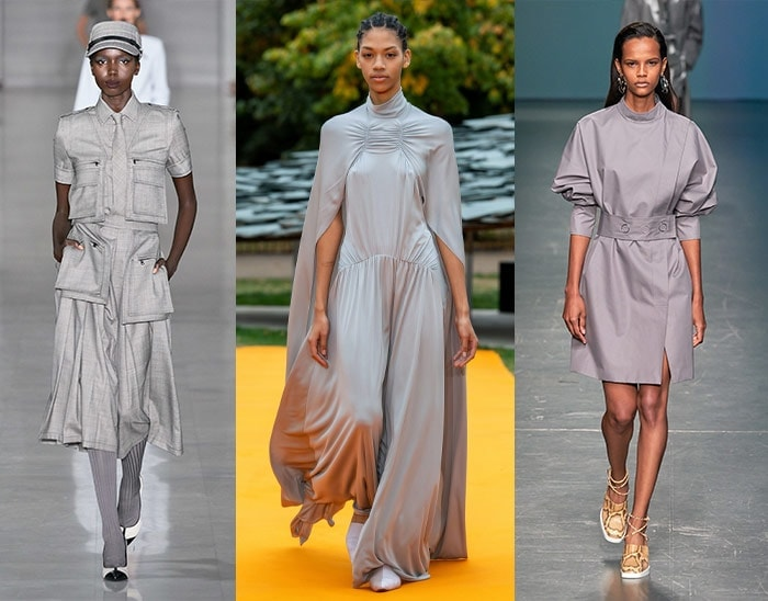 gray with a hint of purple is one of the popular summer 2020 fashion trends | 40plusstyle.com
