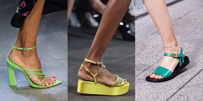 the best shoe colors for spring 2020 include green | 40plusstyle.com