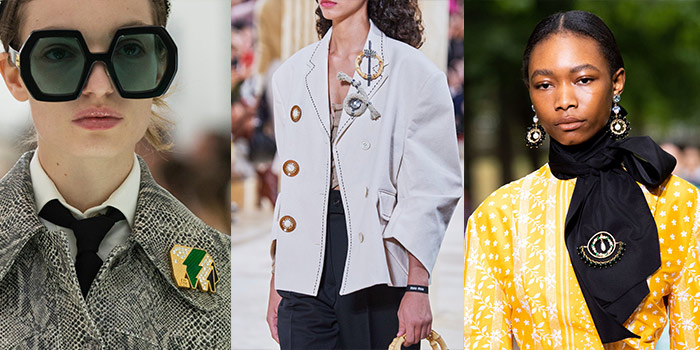 brooches worn on lapels and scarves | 40plusstyle.com