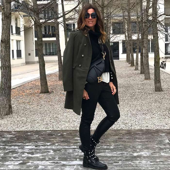 olive green outfit | 40plusstyle.com