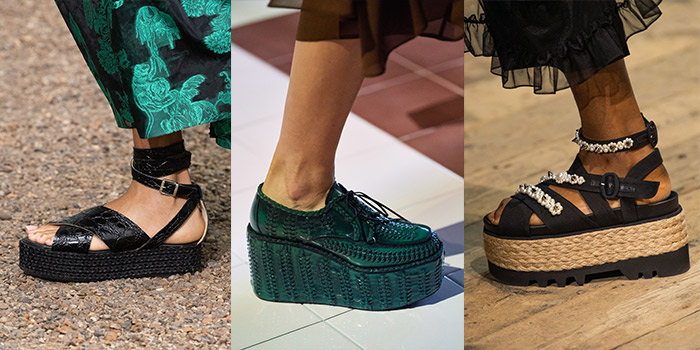 flatform shoes are among the 2020 shoe trends | 40plusstyle.com
