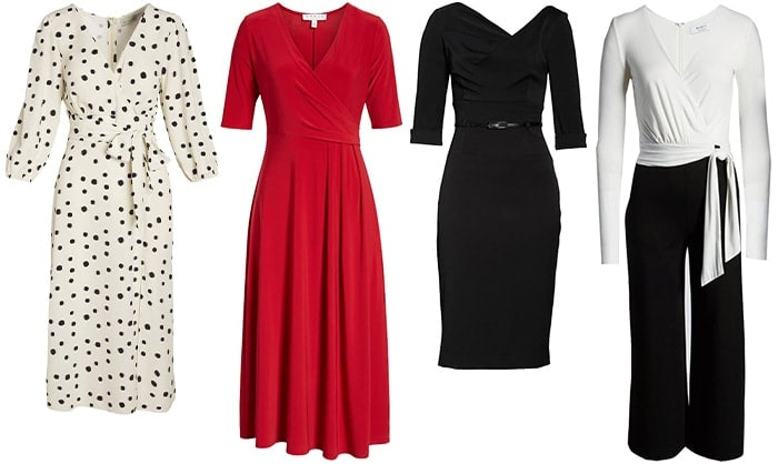 dresses and jumpsuit to wear for the hourglass body | 40plusstyle.com