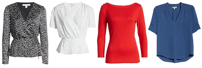 tops to wear for the hourglass body shape | 40plusstyle.com