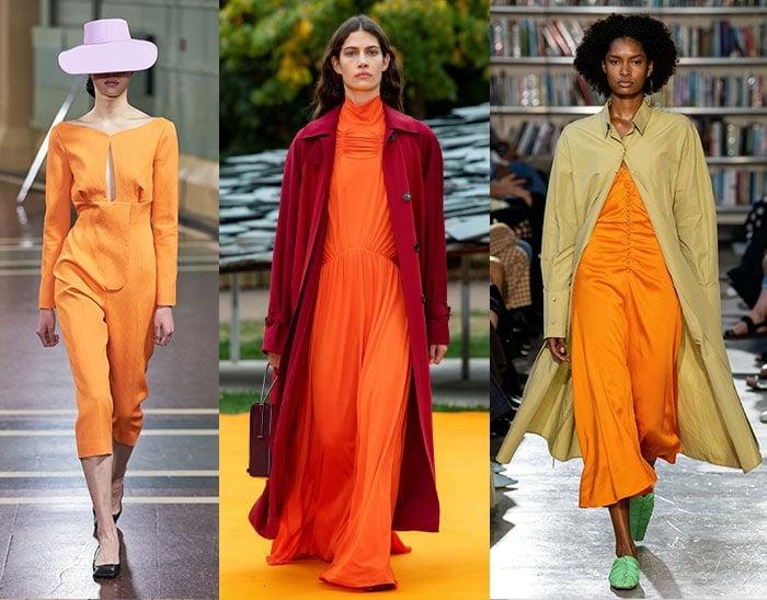 bright orange dresses | 40plusstyle.com
