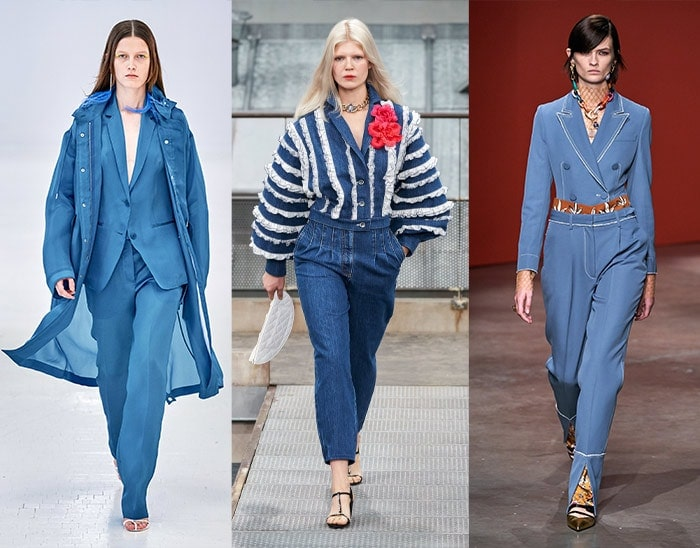 denim blue was one of the major summer color trends on the runways | 40plusstyle.com