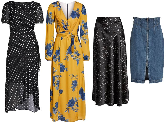 Spring capsule wardrobe -  dresses and skirts | 40plusstyle.com