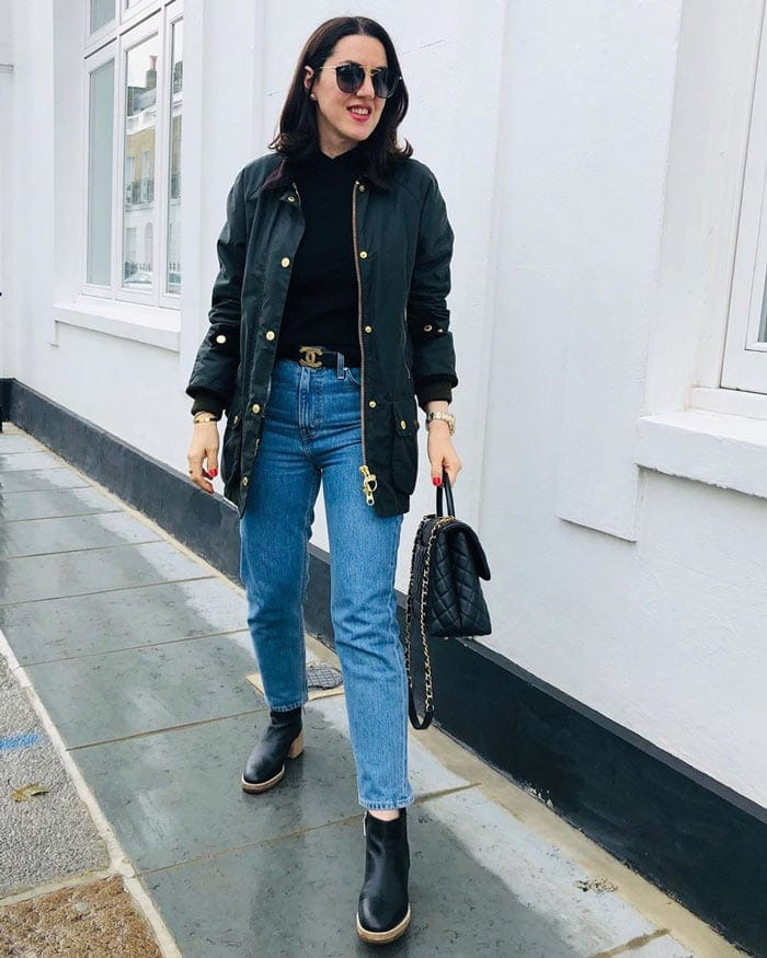 the best raincoats for women - waxed jacket | 40plusstyle.com
