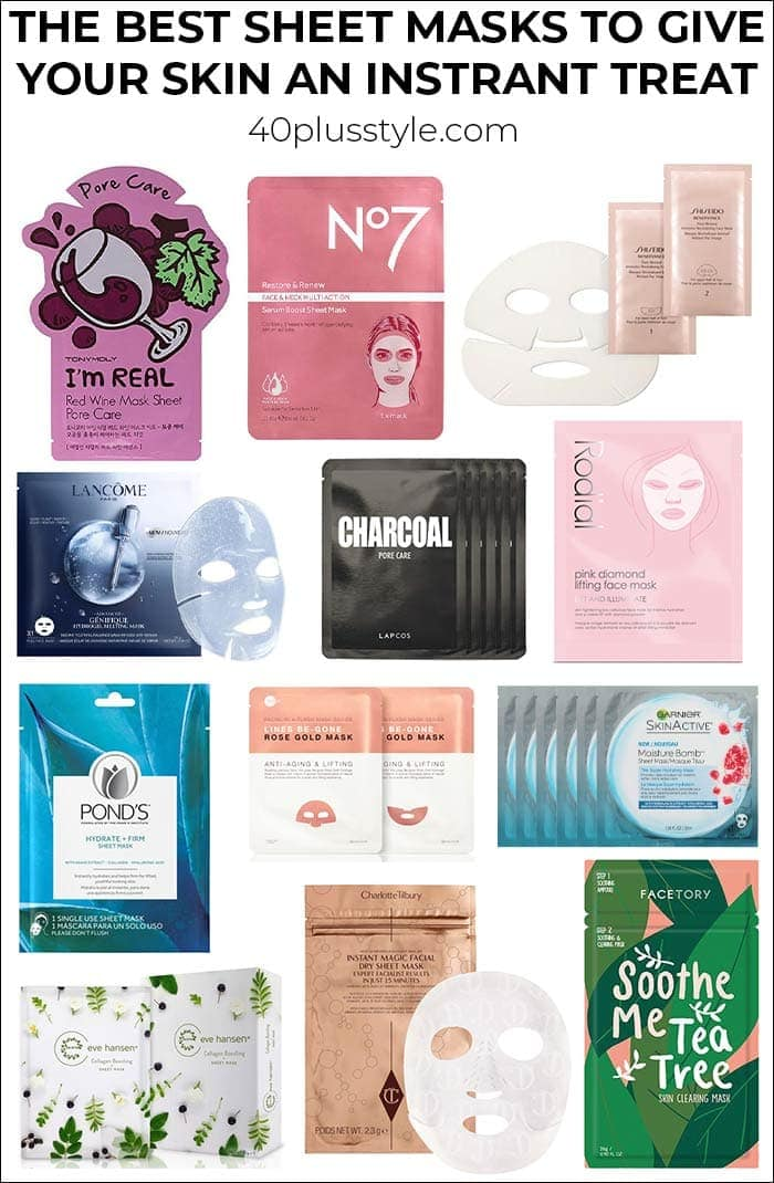 The best sheet masks to give your skin an instant treat | 40plusstyle.com