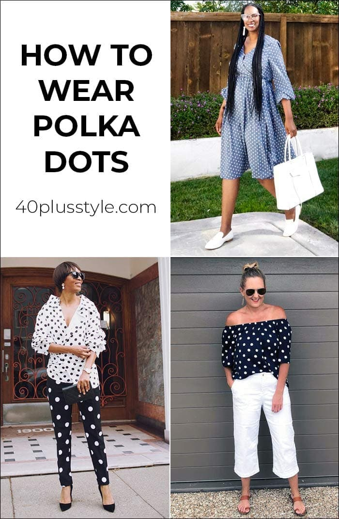 How to wear polka dot in summer | 40plusstyle.com