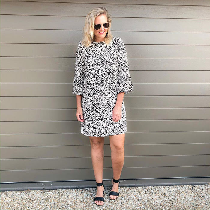 a shift dress is a flattering option for the rectangle shape | 40plusstyle.com